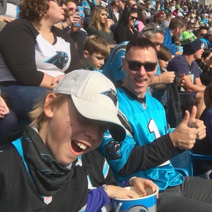 Gluten free dad, Carolina Panthers