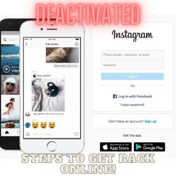 My Instagram Account was Deactivated, Here are the Steps I Took to get Instagram Back!