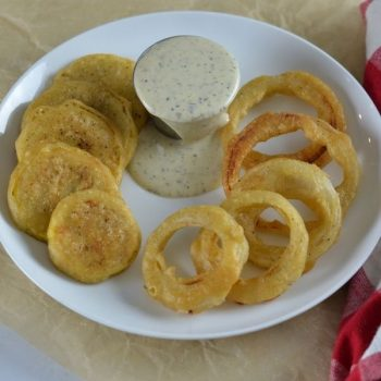 Most Amazing Fried Squash and Onion Ring Recipe