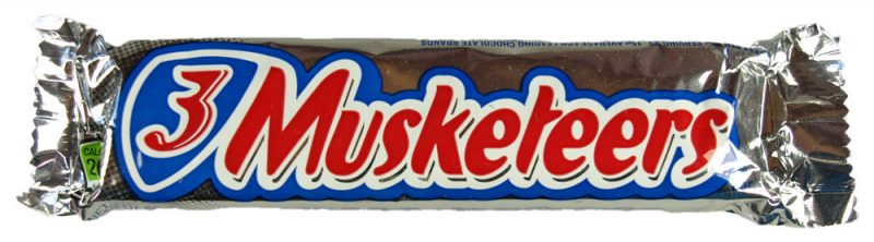 are 3 musketeers gluten free