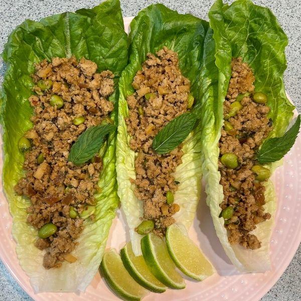 Thai chicken lettuce wrap